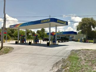 Sunoco gas station in Micco call Brevard County Sheriff's Office about a suspicious suitcase.