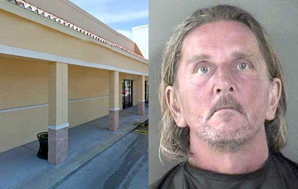 Man exposes penis to urinate on building at Publix in Vero Beach.