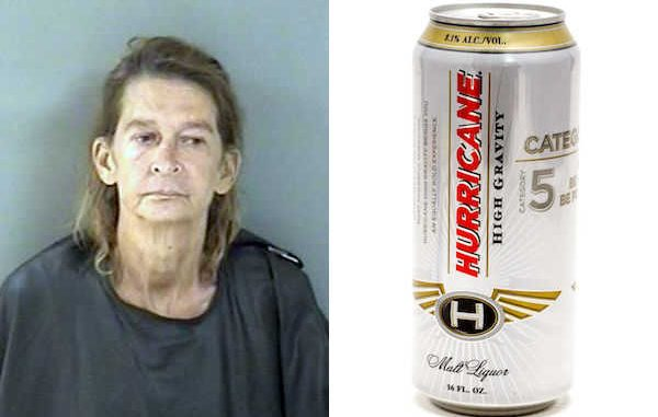 Woman asks police for a drink, buys beer and drinks it in front of officers in Vero Beach.
