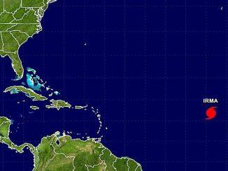 Hurricane Irma is quickly gaining strength as it moves closer towards Sebastian and Vero Beach.
