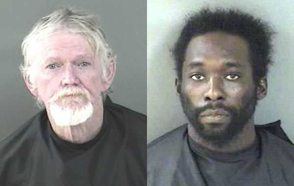 Two men arrested for injuring a pregnant woman and brandishing a firearm in Vero Beach.