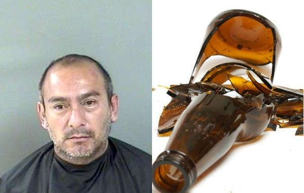 Vero Beach man arrested after smashing beer bottles next to vehicles.