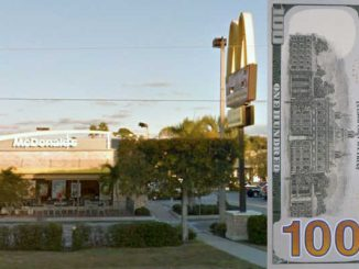 Man tries to pass fake $100 bill off to McDonald's in Vero Beach.