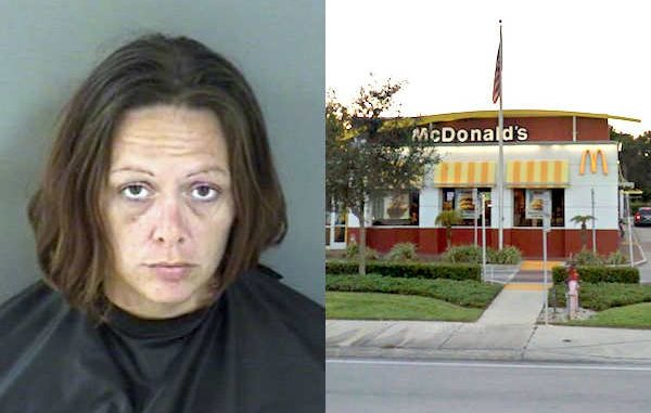Vero Beach woman was arrested at a McDonald's after she spit, kicked, and punched the restaurant manager.