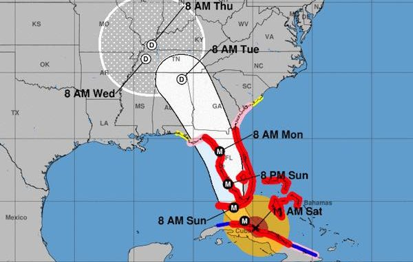 The latest track shows Hurricane Irma shifting to the west.