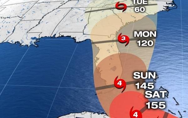 Hurricane Irma spaghetti models show an impact in Sebastian and Vero Beach.