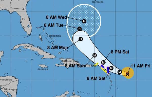 Hurricane Jose upgraded to Category 4 storm.