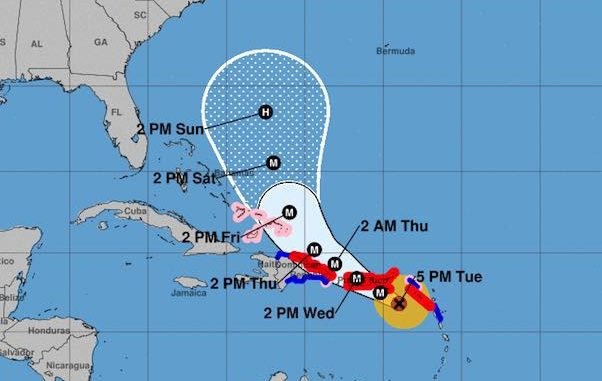 Hurricane Maria odels continue to shift away from Sebastian and Vero Beach in Florida, but the storm will cross Puerto Rico on Wednesday.