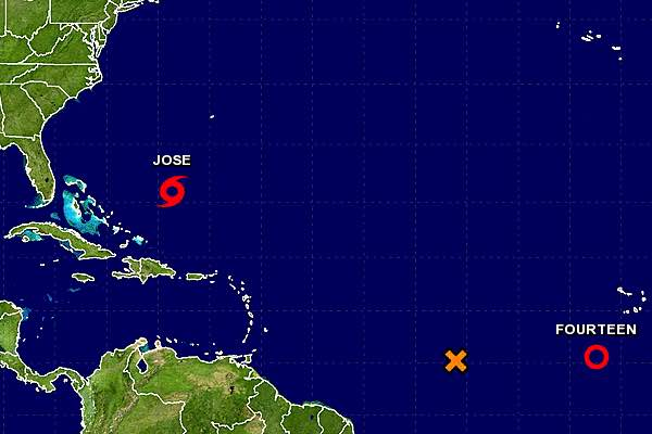 Three disturbances in the Atlantic during a very busy hurricane season.