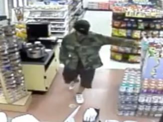 A robbery suspect walked into the Sunoco gas station in Palm Bay and demanded money.