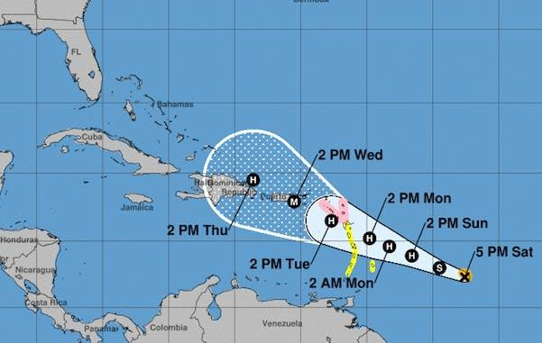 Tropical Storm Maria forms in the Atlantic Ocean and many fear that it's taking the same track as Hurricane Irma.