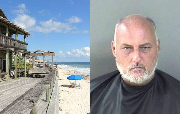 A was arrested for exposing himself in Vero Beach near Waldo's Restaurant.