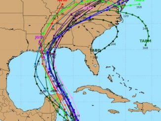 The latest Hurricane Nate spaghetti models place the storm near Lousiana and Missouri.
