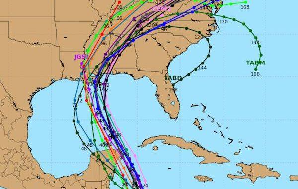 The latest Hurricane Nate spaghetti models place the storm near Lousiana and Missouri.
