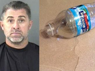 A man was arrested in Vero Beach after throwing a water bottle at his wife.