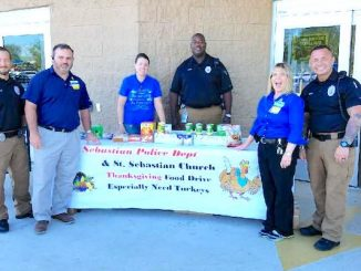 Sebastian Police Department and the St. Sebastian Catholic Church hosted a turkey drive at Walmart to help families in need for Thanksgiving.