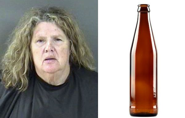 Vero Beach woman strikes boyfriend with beer bottle when he doesn't come to dinner.