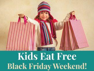 Kids in Vero Beach eat free on Black Friday.