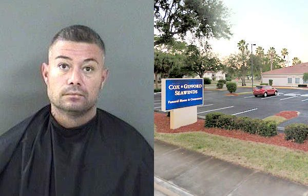 Vero Beach funeral home calls police about a man passed out.