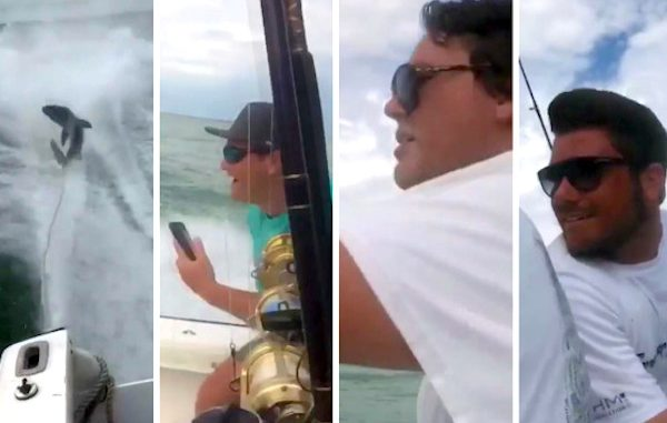 Three men charged in a shark dragging video that went viral a few months ago.