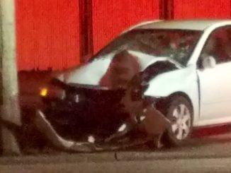 A Vero Beach woman died Thursday in a car crash near the Dunkin' Donuts in Sebastian.
