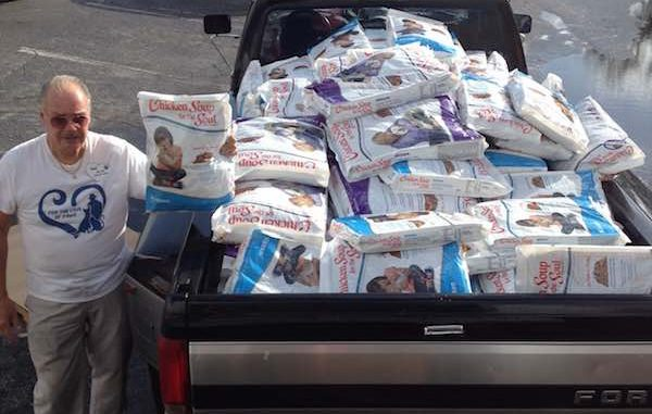 Chicken Soup for the Soul donates almost 30,000 pounds of pet food in Vero Beach.