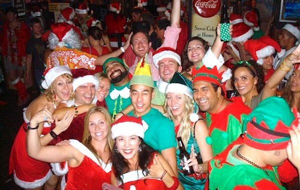 Vero Beach SantaCon gets underway.