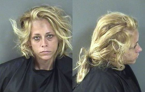 A woman in Vero Beach is back behind bars after using someone's debit card to order pizza from Domino's.