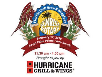 7th Annual Craft Brew and Wingfest for 2018 in Vero Beach.
