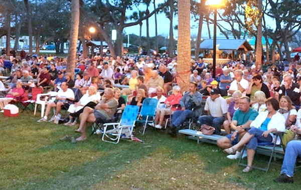 The free concerts are at Riverview Park in Sebastian.