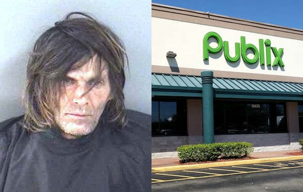 A Sebastian man was arrested on multiple charges after scaring people at the Publix in the Riverwalk Plaza.