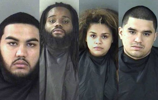 Four people arrested in Vero Beach at the Indian River Mall after trying to pass counterfeit $100 bills.