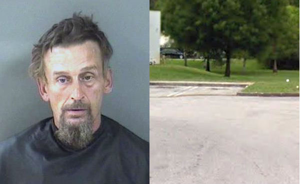 Speedway gas station in Vero Beach call police about man sleeping with beer cans.