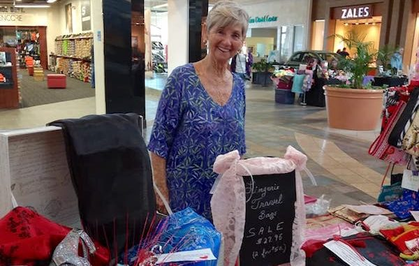 Pictured is vendor Judy Roberts.
