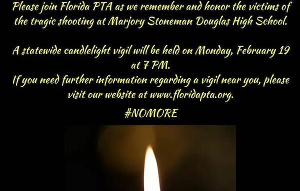Indian River County Council PTA would like to invite everyone to a nationwide vigil in honor.