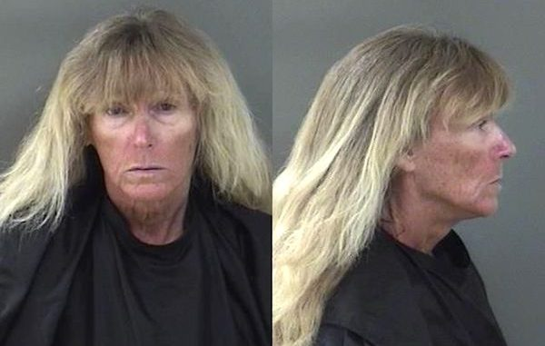 Joan Carberry Sava is known as the woman who walks the streets in Sebastian wearing a flower-colored dress. Photo by Indian River County Sheriff's Office.