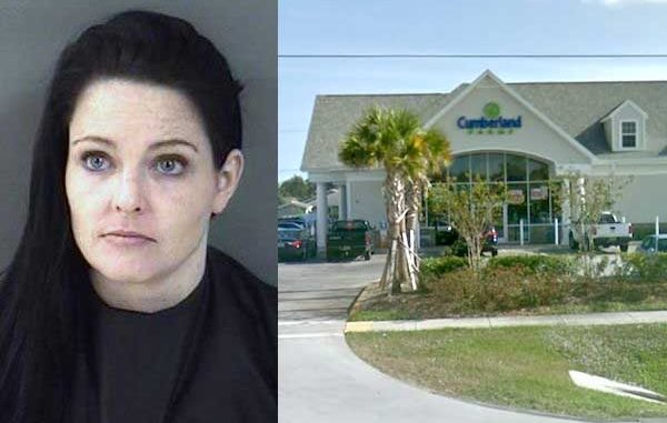 Lindsey Nichole Theissen, 32, allegedly bit her mother for taking too long to drive her for cigarettes in Sebastian.