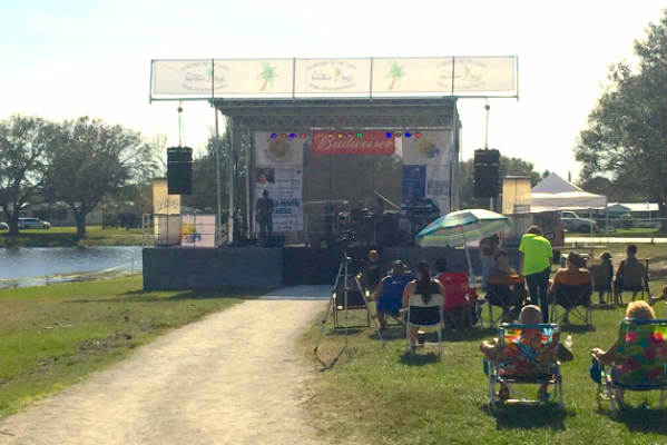 Two bands played on the stage during the Barefoot Bay event. (Photo: Andy Hodges)