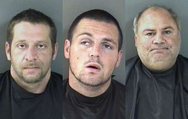 Timothy Michael Kaye, Joseph Salvatore Ancona, and Salvatore Ancona were arrested on charges of battery and assault with a deadly weapon Tuesday at Earl's Hideaway Lounge in Sebastian.