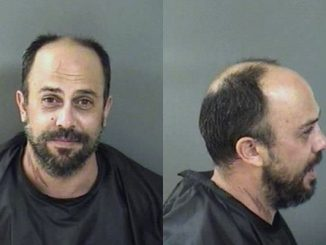 Vero Beach man tells police it was Donald Trump who opened the door for him at the Chevron gas station. Photo by Indian River County Sheriff's Office.