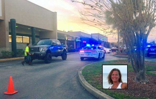 A woman was hit by a truck in the Riverwalk Plaza near Aunt Louise's Pizzeria in Sebastian.