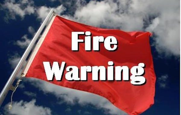 A Red Flag warning has been issued for Sebastian, Fellsmere, Vero Beach, and other areas of Indian River County.