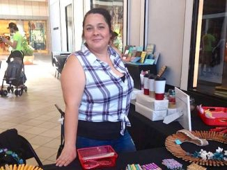 "Andrea Lopez of ""Pinning Memories"" at the Artisans at the Mall event in March."