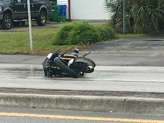 Motorcycle accident in Sebastian, just south of Main Street.