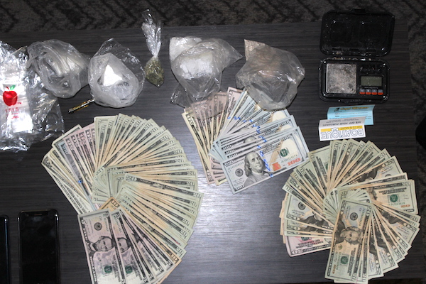 Sebastian police seize drugs, cash, and a vehicle. Image courtesy of Sebastian Police Department.