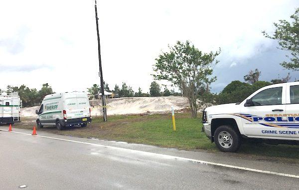 Police uncover human bones near cemetery in Sebastian.