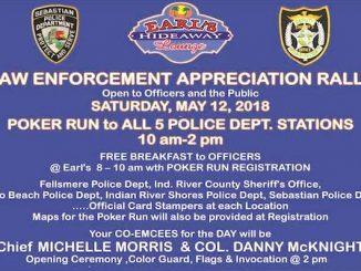 Earl's Hideaway Lounge hosting Law Enforcement Appreciation Rally and Poker Run in Sebastian.