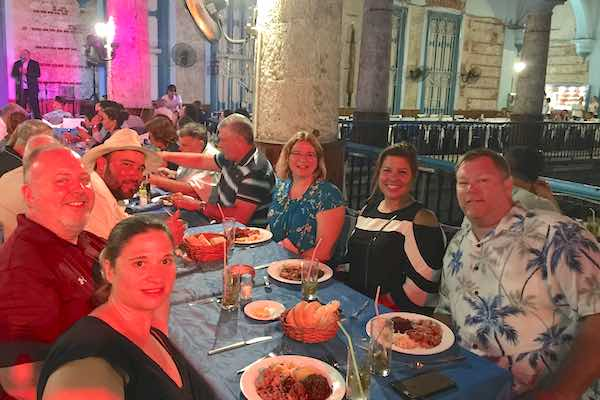 Our dinner at the famous Buenavista Social Club in Havana.
