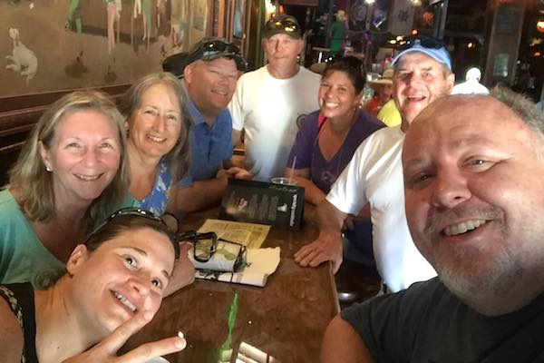 A few people from our group at Irish Kevin's in Key West.