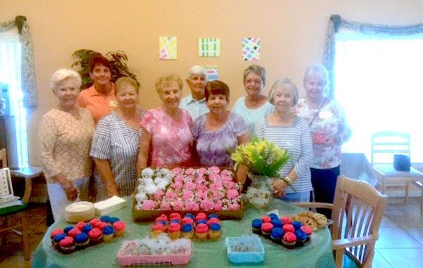 Front row: Kathy Ollis, Carol Vitale, Ruth Webster, Frances Quinn, Pat Bidoul. Back row: Audrey Huddy, Debbie Lawrence, Betty Hays, Deanna Randolph.